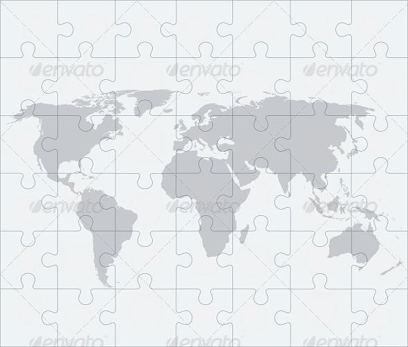 GraphicRiver World Map Puzzle 7814242