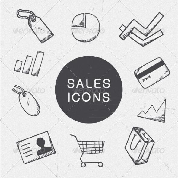 GraphicRiver Marketing Symbols Set 7814260