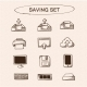 Save and Store Data Symbols Set - GraphicRiver Item for Sale