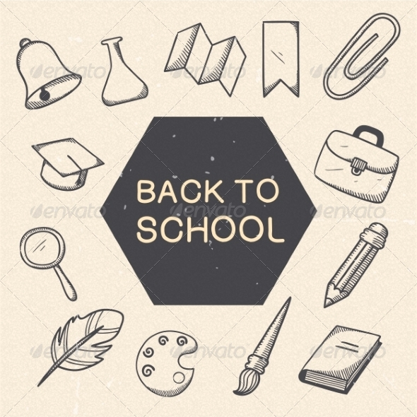 GraphicRiver School Education Symbols Set 7814268