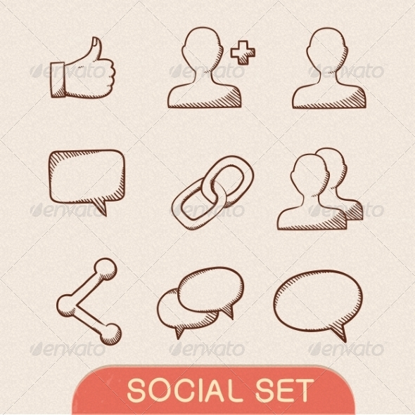 GraphicRiver Communication Symbols Set 7814271
