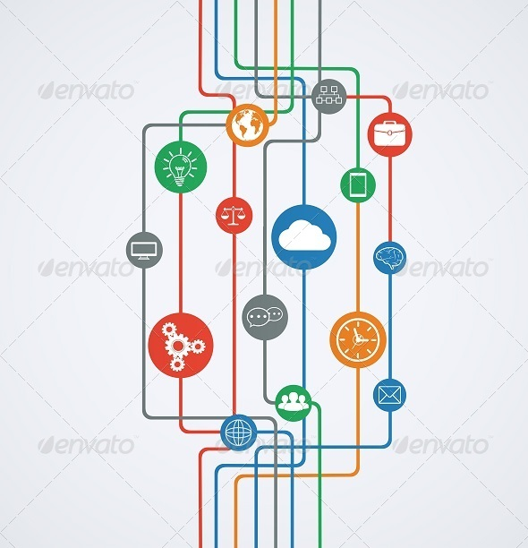 GraphicRiver Network Connections 7814276