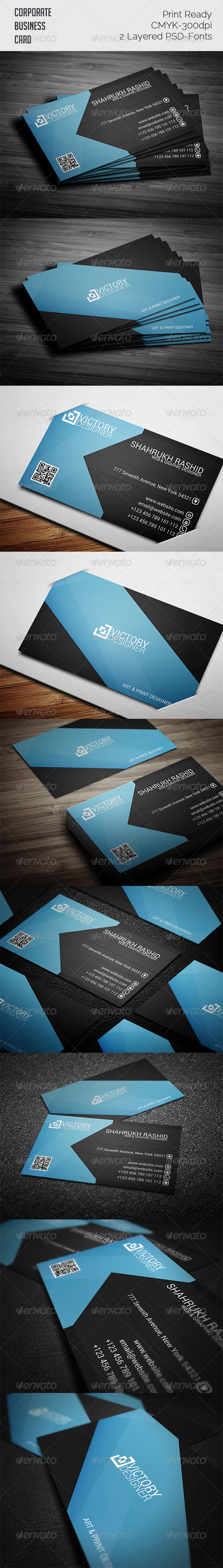 GraphicRiver Corporate Business Card 7814404