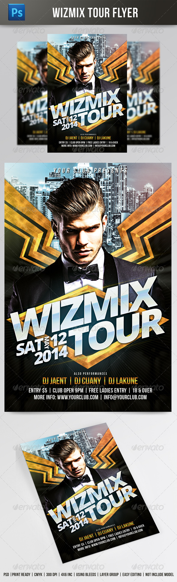 GraphicRiver Wizmix Tour Flyer 7814451