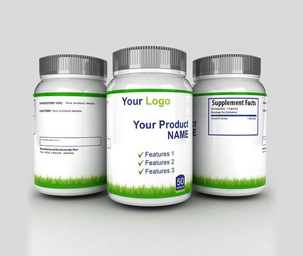 3d Medicine Bottles with sides - 3DOcean Item for Sale
