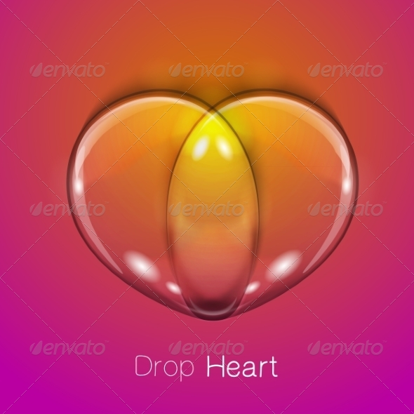 GraphicRiver Liquid Transparent Heart 7814614