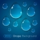 Drops of Liquid on Blue Background - GraphicRiver Item for Sale