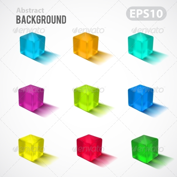 GraphicRiver Cubes Background 7814844
