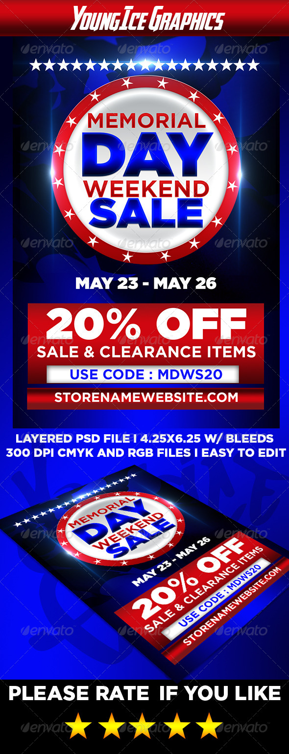 Memorial Day Weekend Sale Flyer