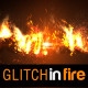 Glitch in Fire Logo Reval - VideoHive Item for Sale