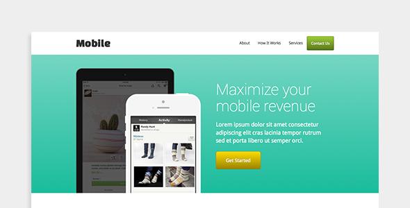 Mobile - App Landing Page