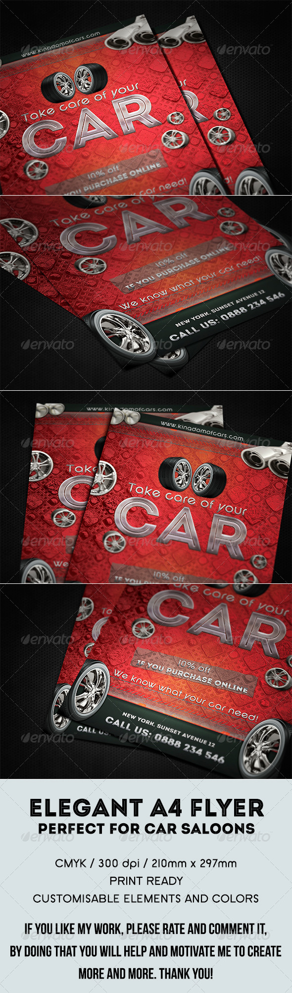 GraphicRiver Elegant Car Services Flyer 7815156