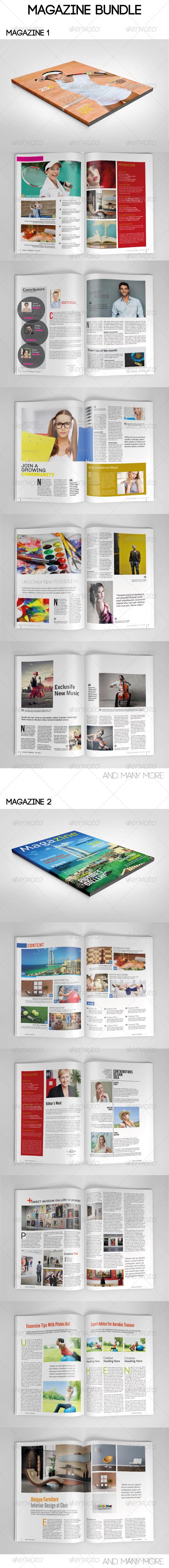 GraphicRiver Magazine Bundle Template 7815270