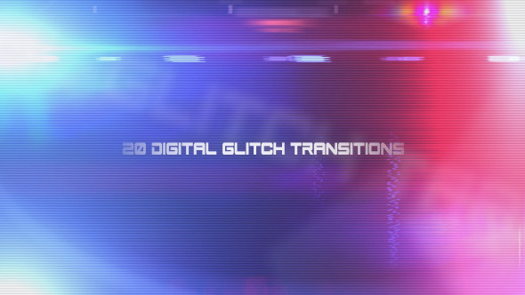 20 Digital Glitch Transitions