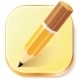 Pencil Icon on Textured Plane - GraphicRiver Item for Sale