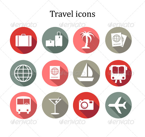 GraphicRiver Set of Travel Icons 7815455