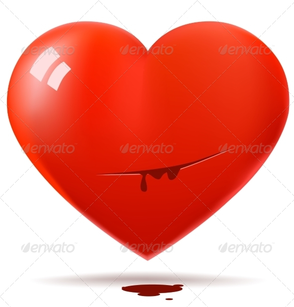 GraphicRiver Cut Red Glossy Heart 7815503