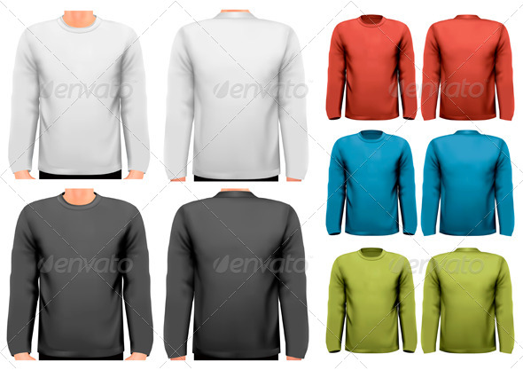 GraphicRiver Long Sleeved Shirts Template 7815549