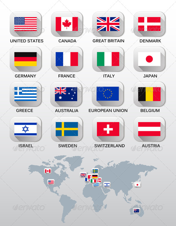 GraphicRiver Flags Icons 7815610