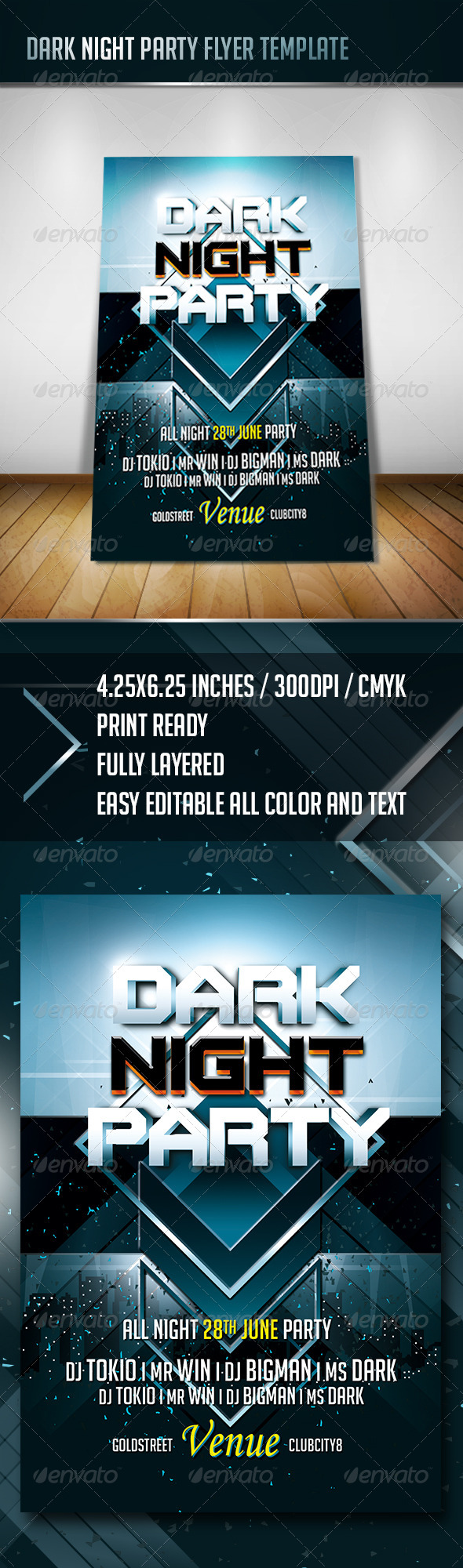 GraphicRiver Dark Night Party Flyer 7815678