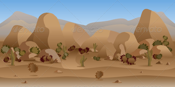 GraphicRiver Rocky Mountain Desert Background 7816032