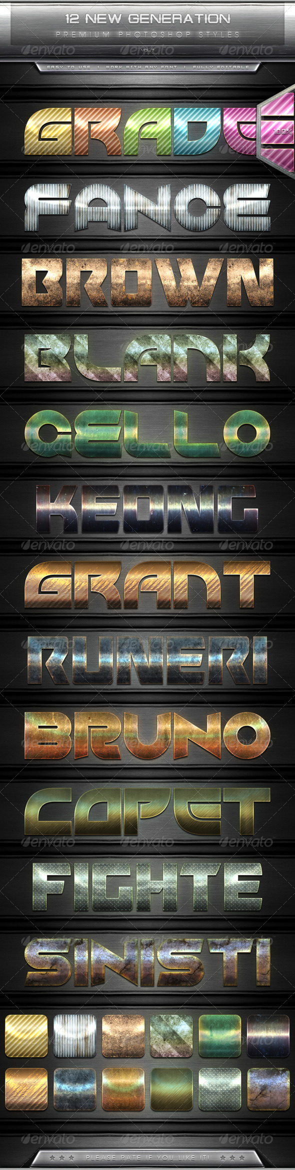 GraphicRiver 12 New Generation Text Effect Styles Vol.7 7816070
