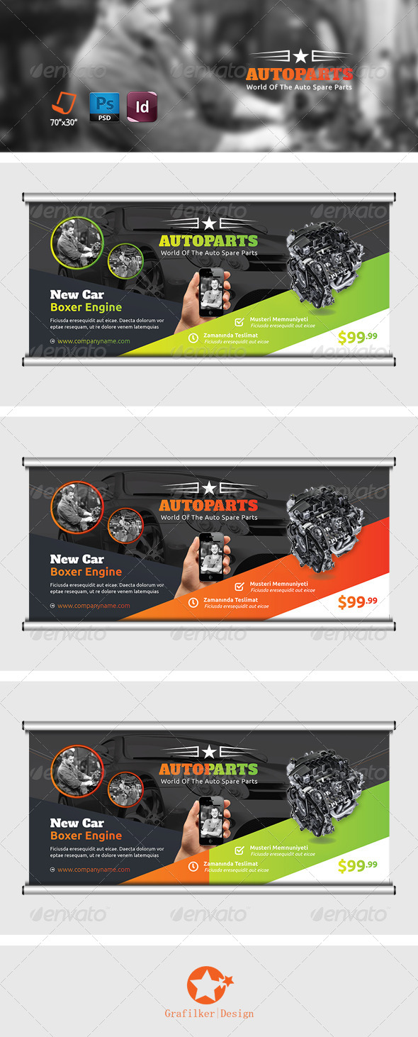 GraphicRiver Auto Services Billboard Templates 7816621