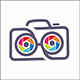 Colorful Camera Geek Logo - GraphicRiver Item for Sale