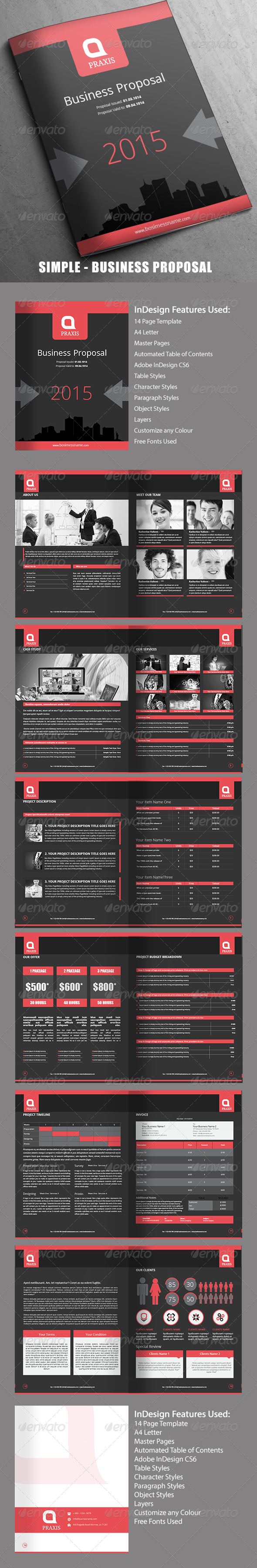 GraphicRiver Simple Business Proposal 14 Pages 7816824