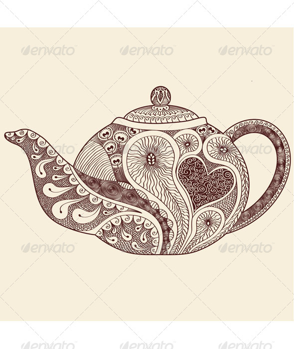 GraphicRiver Patterned Teapot 7817460