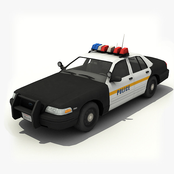 Police Car - 3DOcean Item for Sale