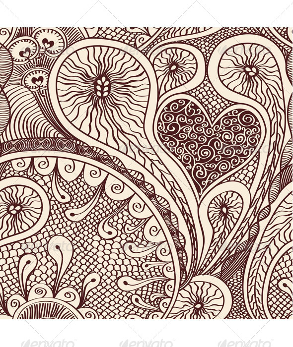 GraphicRiver Seamless Drawn Doodle pattern 7817492