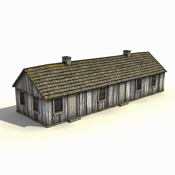 3DOcean Big Wooden Barracks 7817691