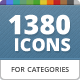 115 Unique Category Icons for Directory WP Theme - GraphicRiver Item for Sale