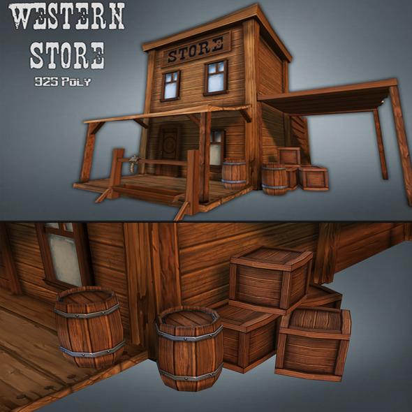 3DOcean Western Store Goods 7817861