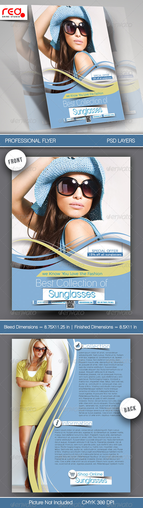 SunGlasses Fashion Store Flyer Template. - Commerce Flyers