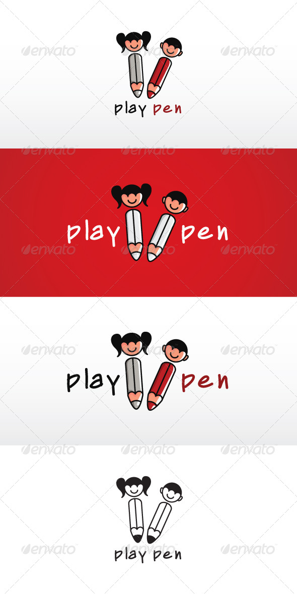Play Pen Stock Logo Template