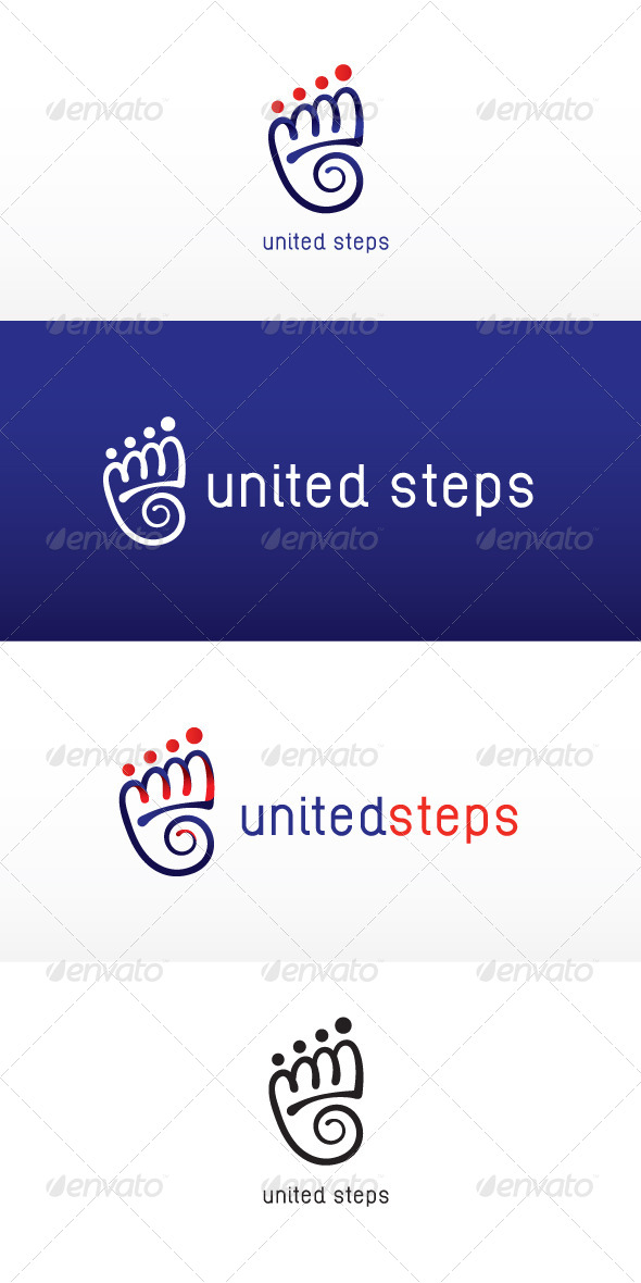 GraphicRiver United Steps Stock Logo Template 7818048