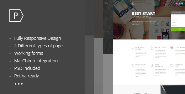 ThemeForest Pointer Landing Page 7818052