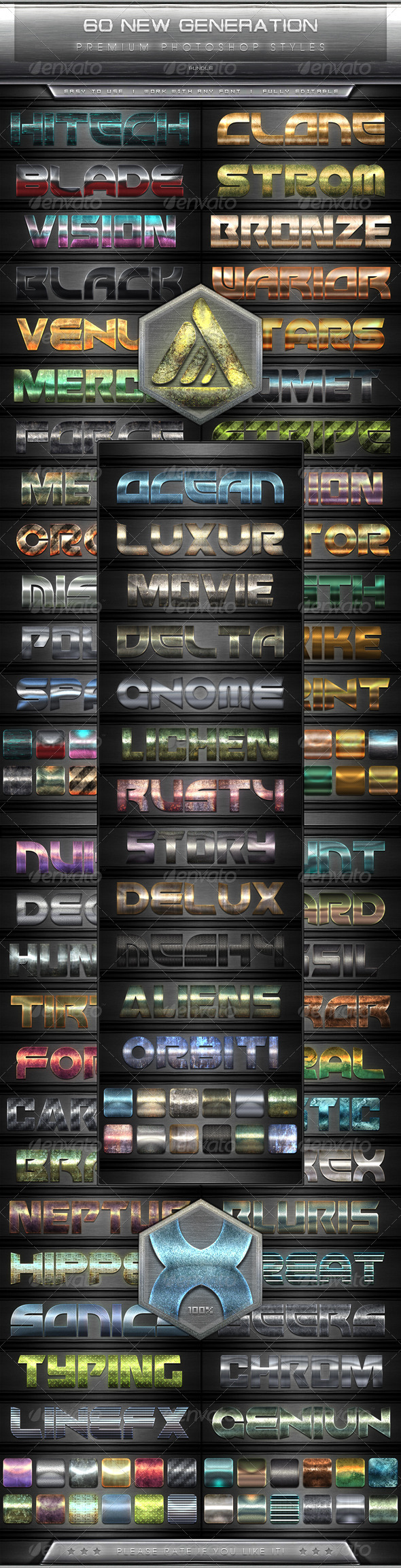 GraphicRiver 60 New Generation Text Efect Styles Vol.1-5 Bundle 7801857