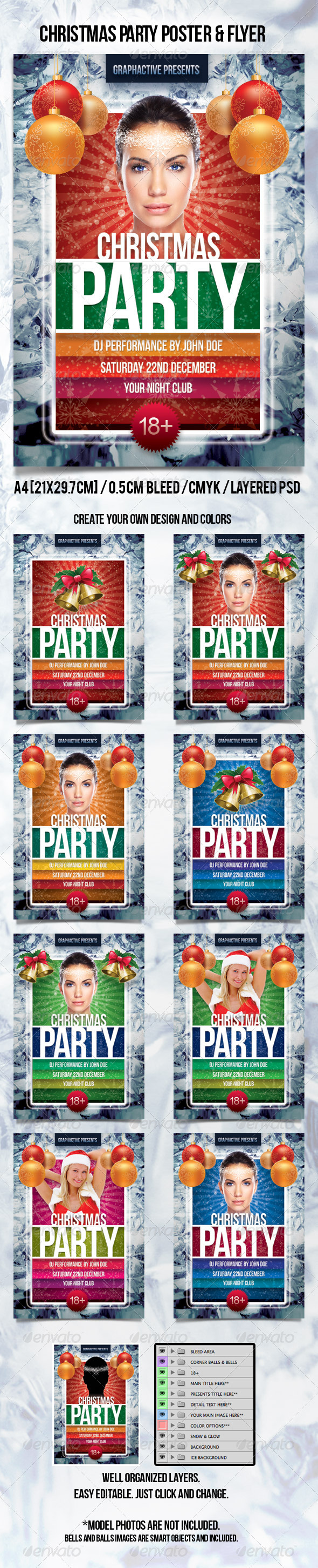 GraphicRiver Christmas Party Poster 775746