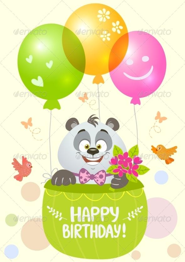 GraphicRiver Panda Birthday 7819097