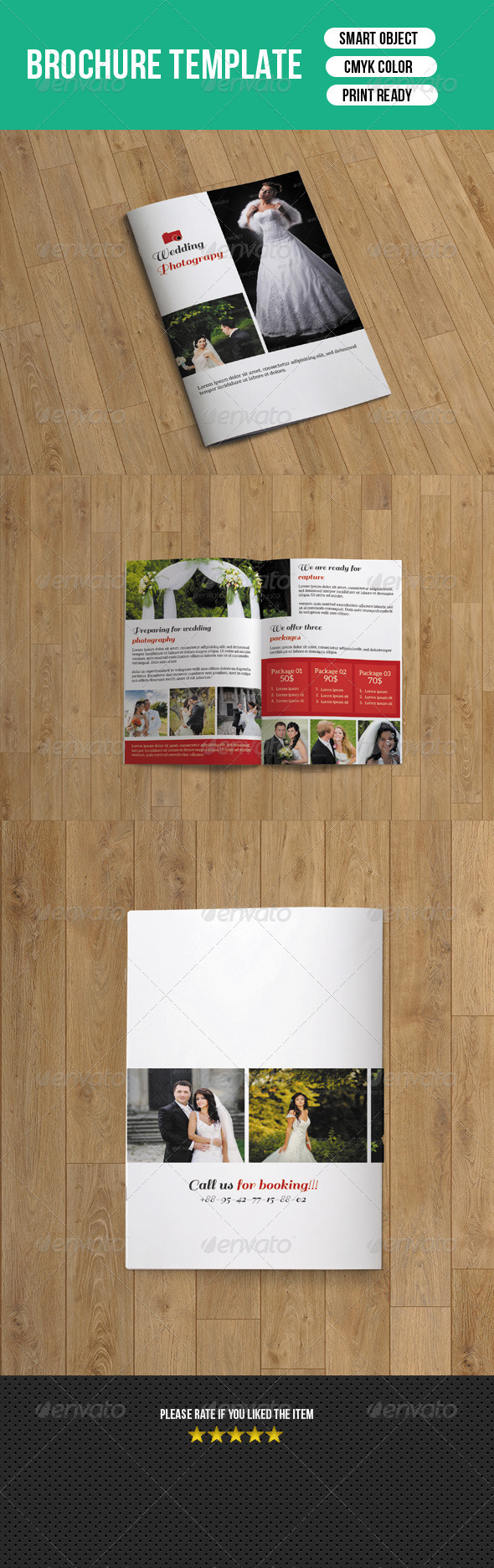 Bifold Wedding Photography Brochure