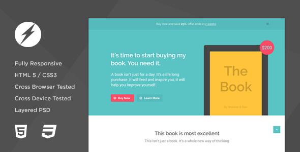 TheBook - App / eBook HTML5 + CSS3 Landing Page