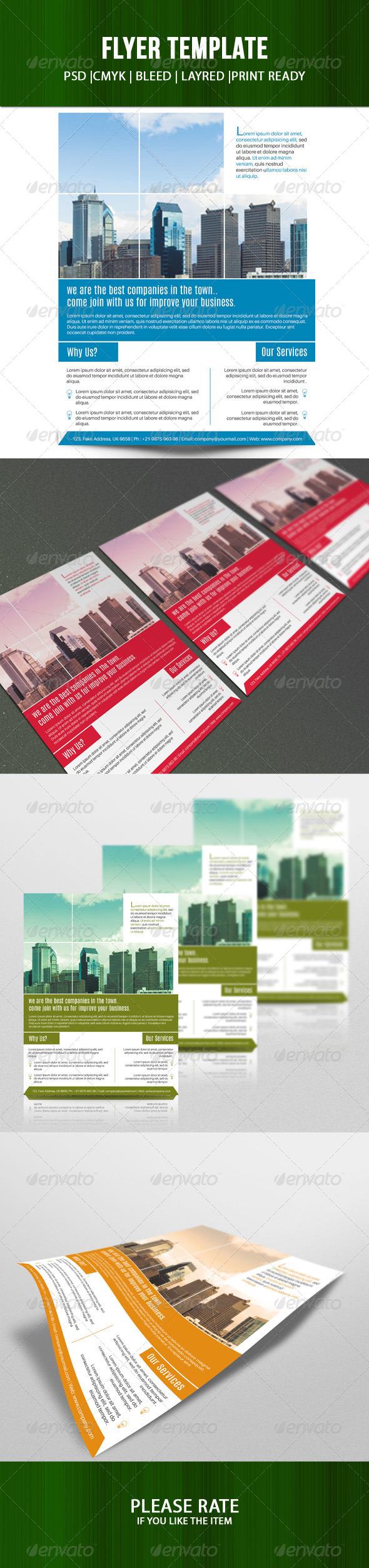 GraphicRiver Business Flyer tempalte-V36 7819509