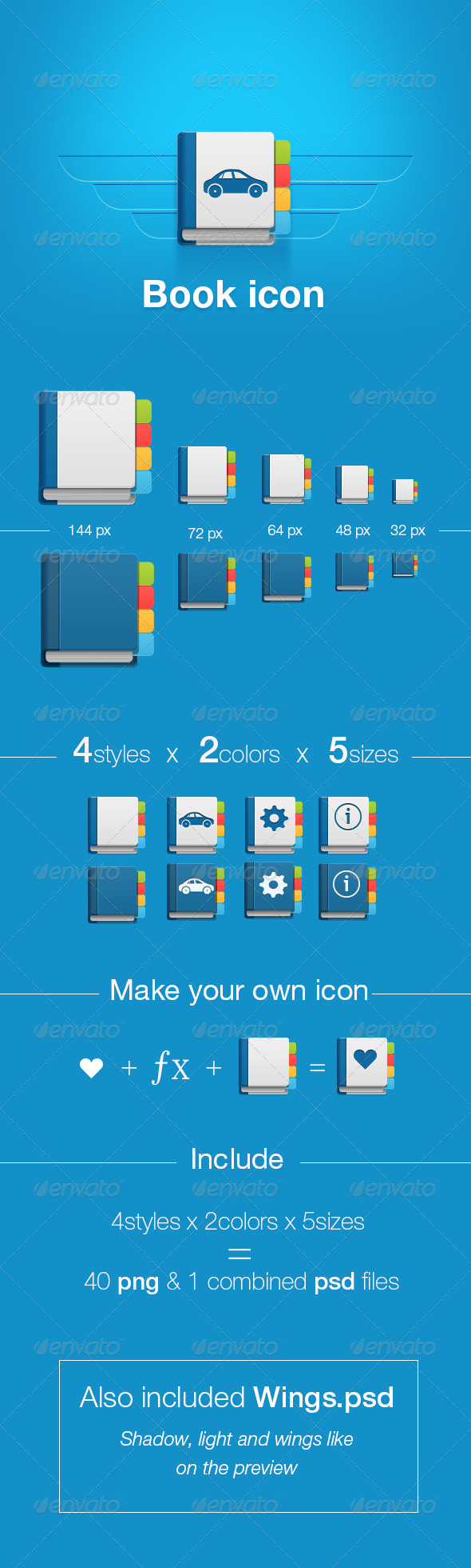 GraphicRiver Simple Book Icons 7819531