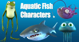 Aquatic Fish Characters