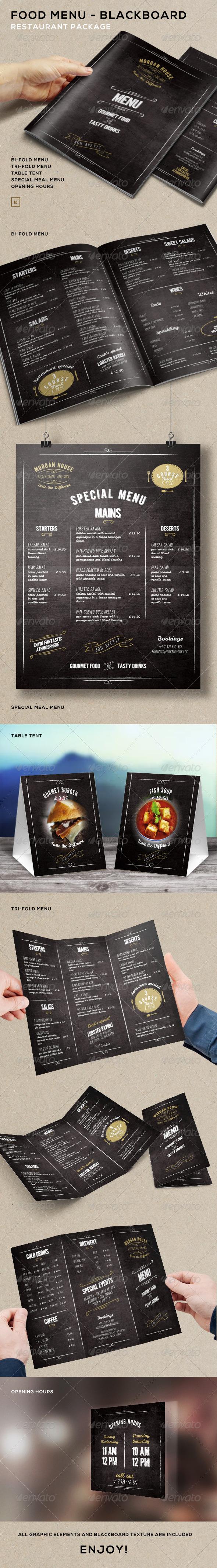 GraphicRiver Food Menu BlackBoard Restaurant Package 7819673