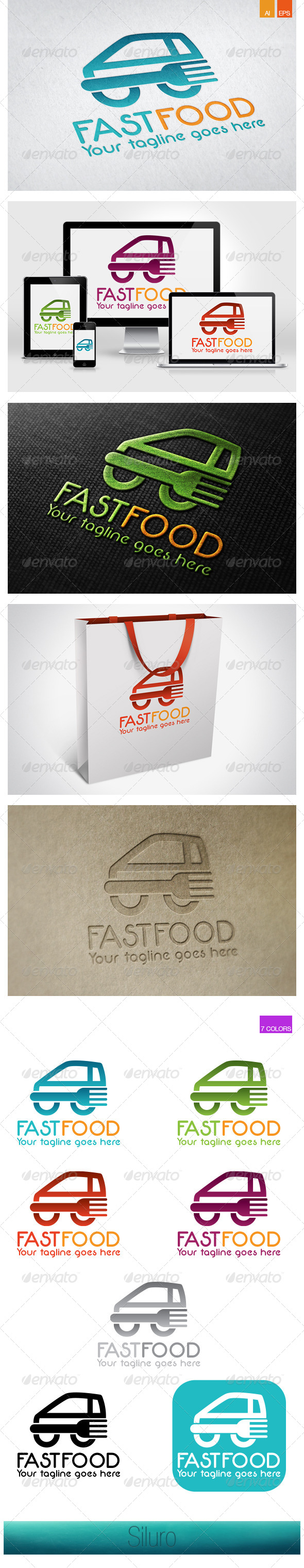 GraphicRiver FastFood Logo 7819682