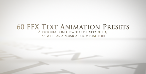 60 FFX Text Animation Presets